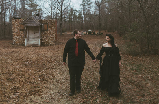 Gothic Alabama Engagement Photography
