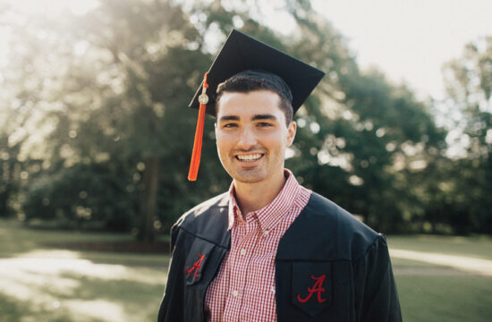 University of Alabama Graduation Portrait Photography