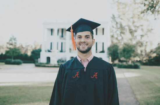 University of Alabama Graduation Portraits in Tuscaloosa