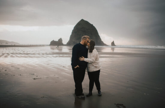 Oregon Engagement Photography at Cannon Beach