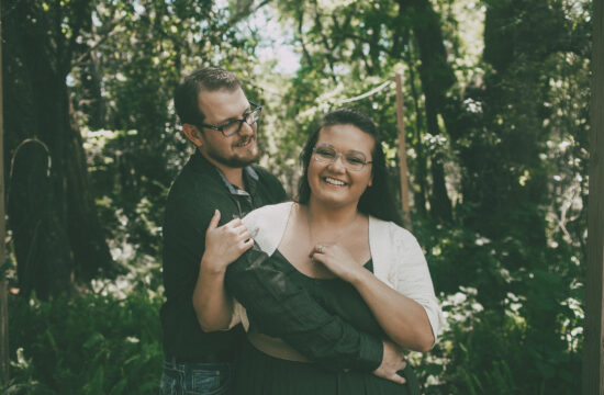 Dade City Florida Engagement Session Laurel Wood Gardens