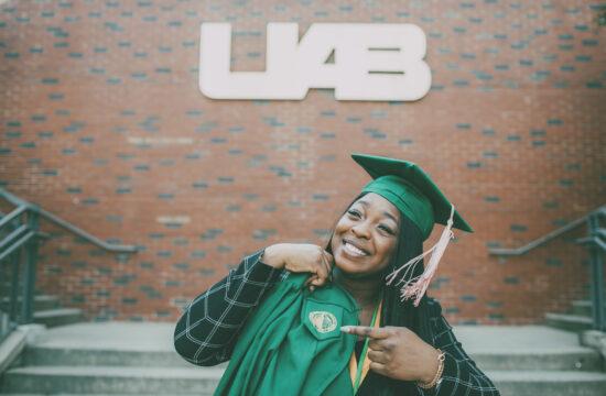 UAB Graduation Portraits Birmingham Alabama