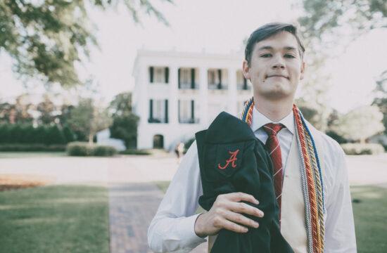 University of Alabama Graduation Portraits Tuscaloosa Alabama