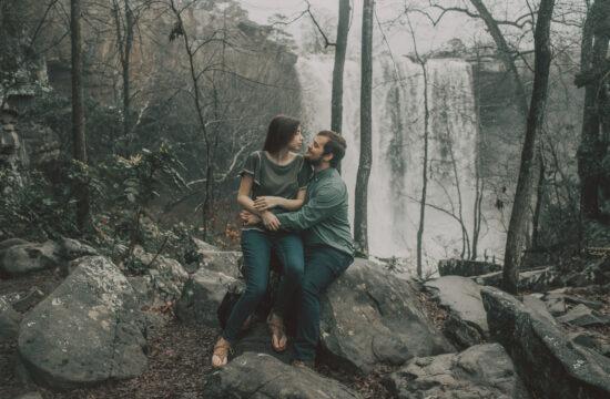 Noccalula Falls Engagement Photos Gadsden Alabama