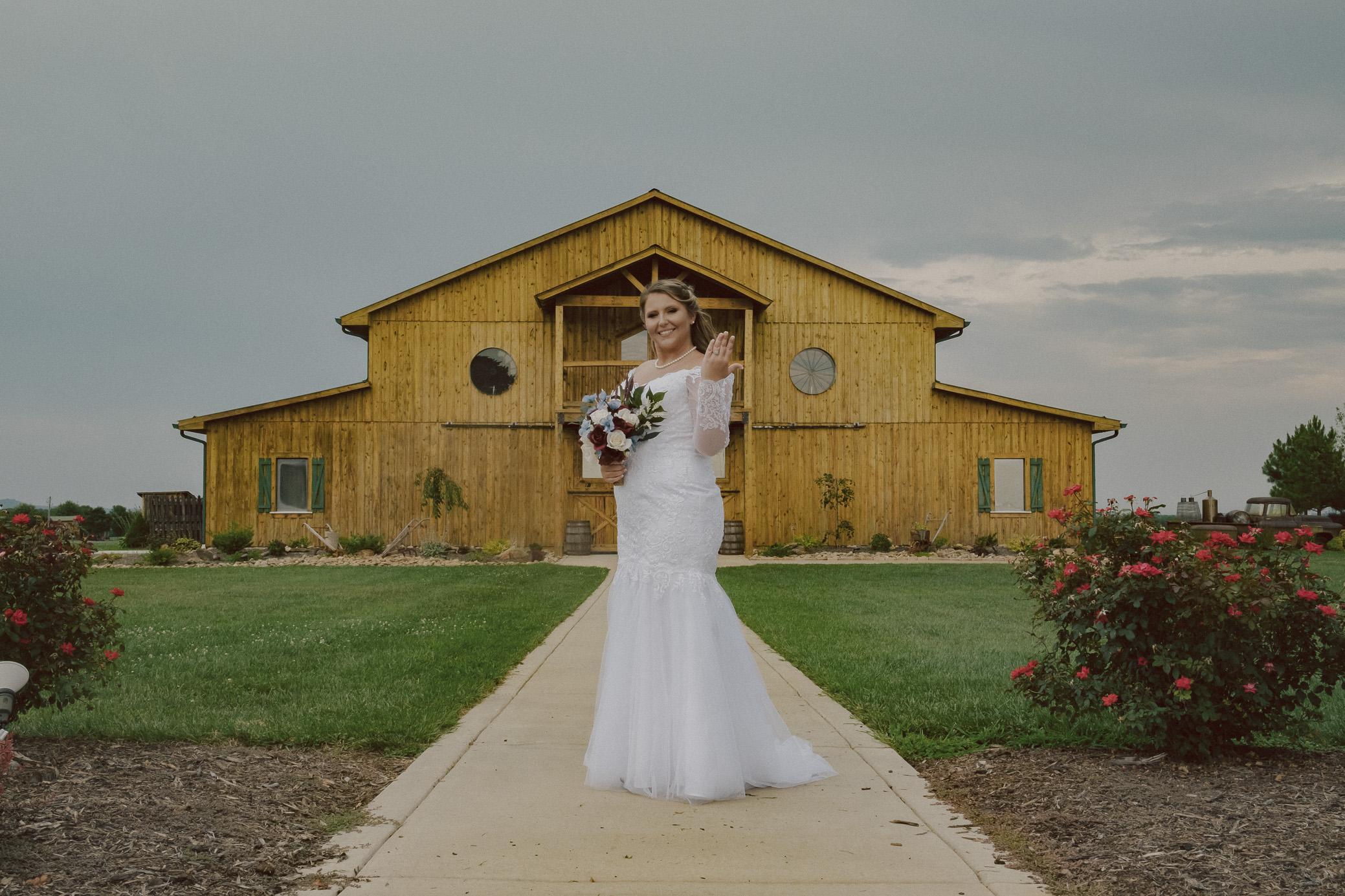 Dobson North Carolina Bridal Portraits The Barn at Heritage Farm