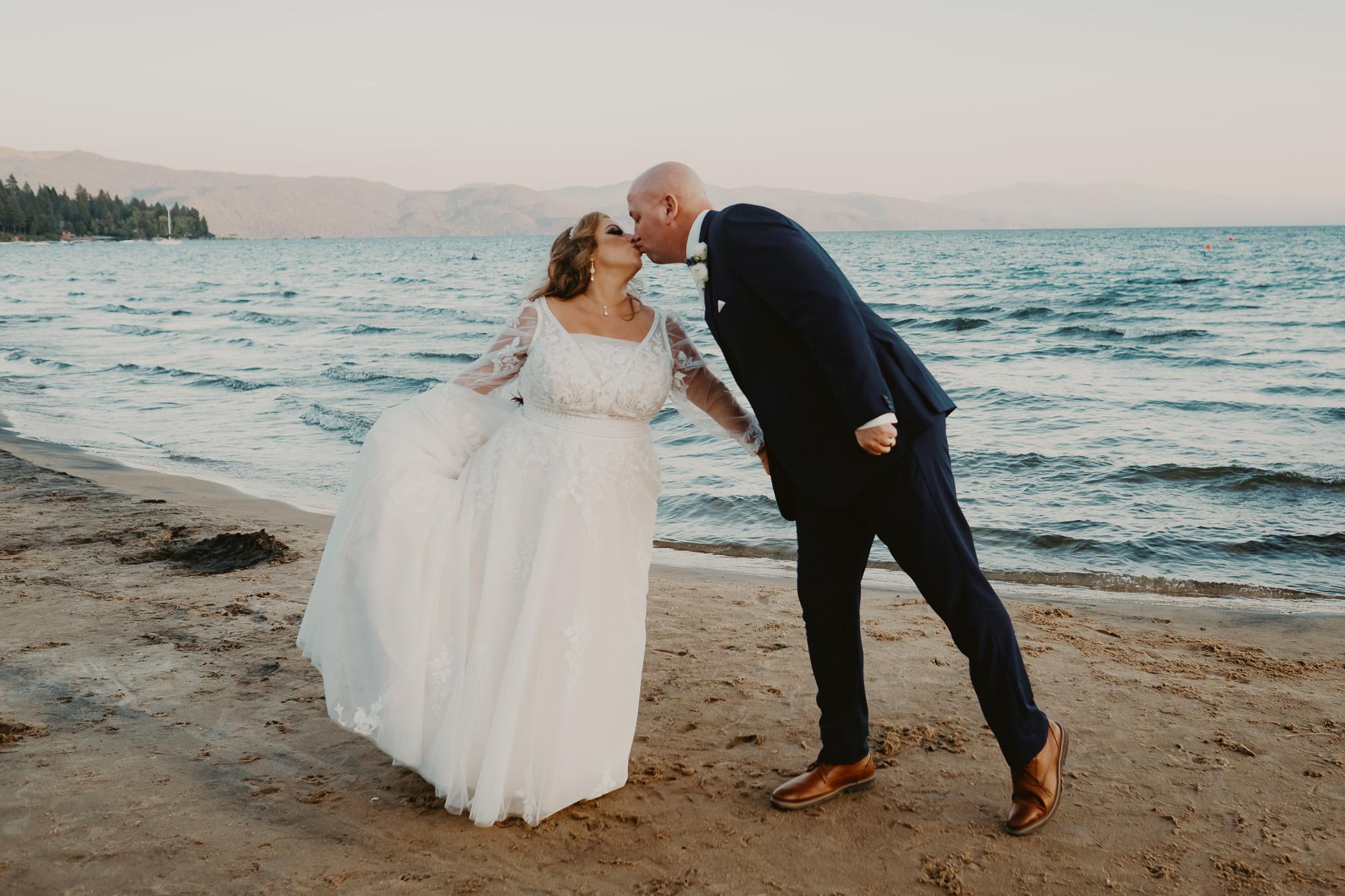 Kings Beach California Lake Tahoe Wedding